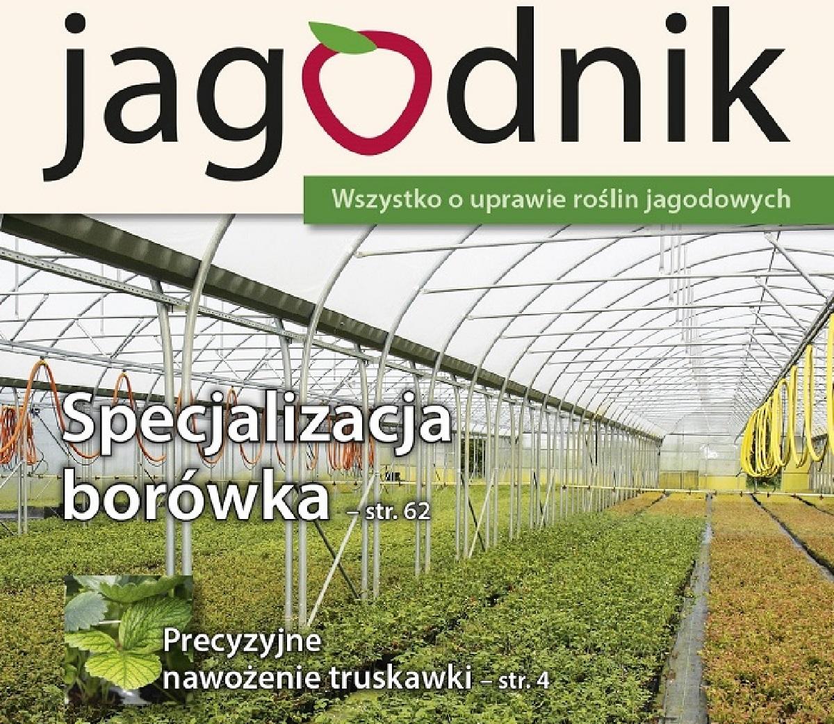 jagodnik, czasopismo o uprawie truskawek, malin porzeczek, agrestu