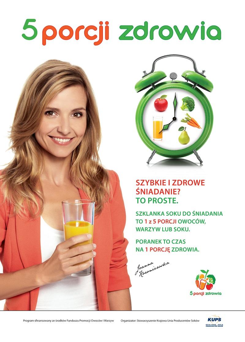 aktualności, Polska, KUPS, 5 porcji warzyw, owoców lub soku, 5 porcji zdrowia